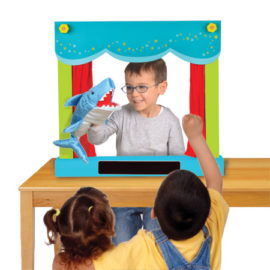 Carry Case Hand Puppet Theatre and Shop for Kids Toys and Games Pretend Play Fiesta