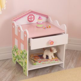 Dollshouse Toddler Bedside Table White and Pastel for Kids Girls Kidsroom Children Bedroom