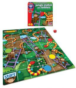 Jungle Snakes & Ladders Game