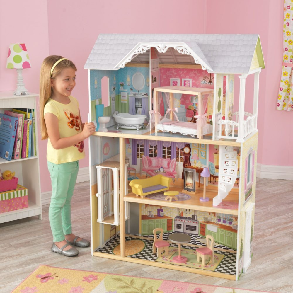 kaylee dolls house with furniture for children in s a. Black Bedroom Furniture Sets. Home Design Ideas