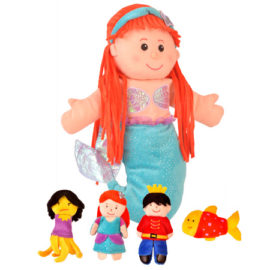 Little Mermaid Hand Puppet Finger Puppet Set for Kids Pretend Play Tell a Tale Fiesta Crafts