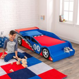 Racing Car Toddler Bed and Bedside for Kids Children Boys Bedroom Bedtime Furniture Fun