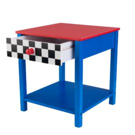 Racing Car Toddler Bedside Table Nightstand for Kids Children Bedroom