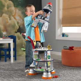 Rocket Ship Wooden Play Set for Kids Children Space Pretend Play Classic Play Set Boys Toys