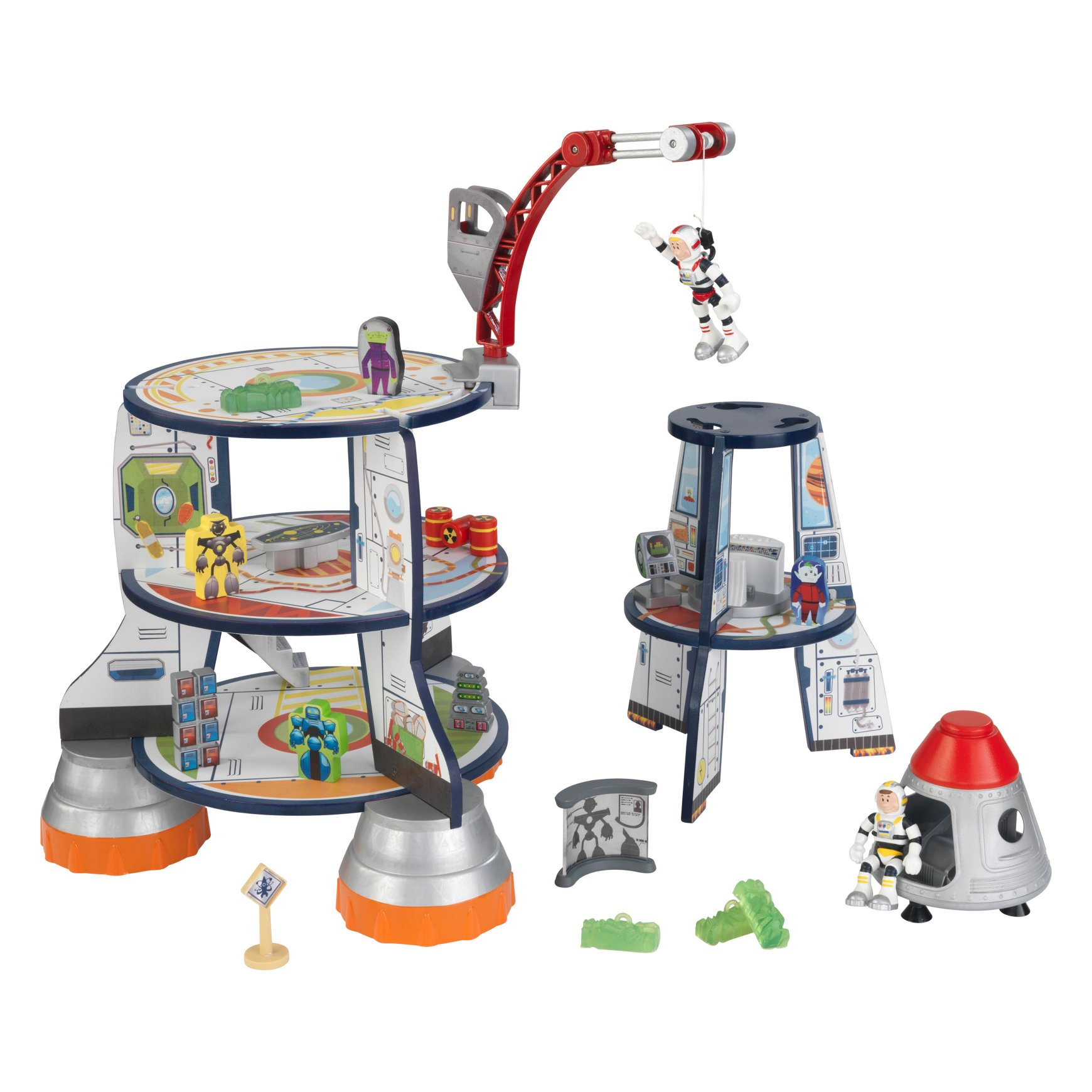 rocket ship wooden play set for children in s a