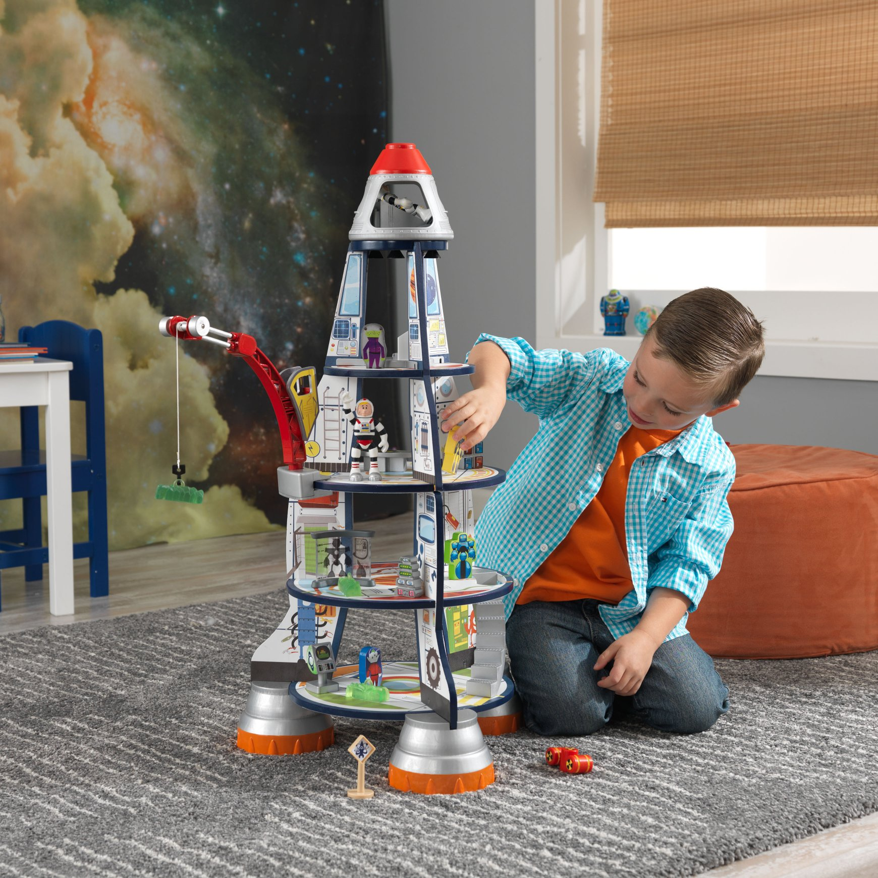 Best Spaceship Rockets Toys For Kids : Rocket ship wooden play set for children in s a