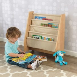 Sling Bookcase Reading Storage Toddlers for Kids Children Playroom Fabric Bedroom Kidsroom