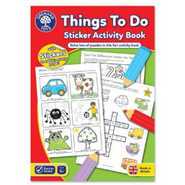 Things To Do Sticker Activity Book for Kids Children Games Toys Orchard Fun Learning On the Go British Detail