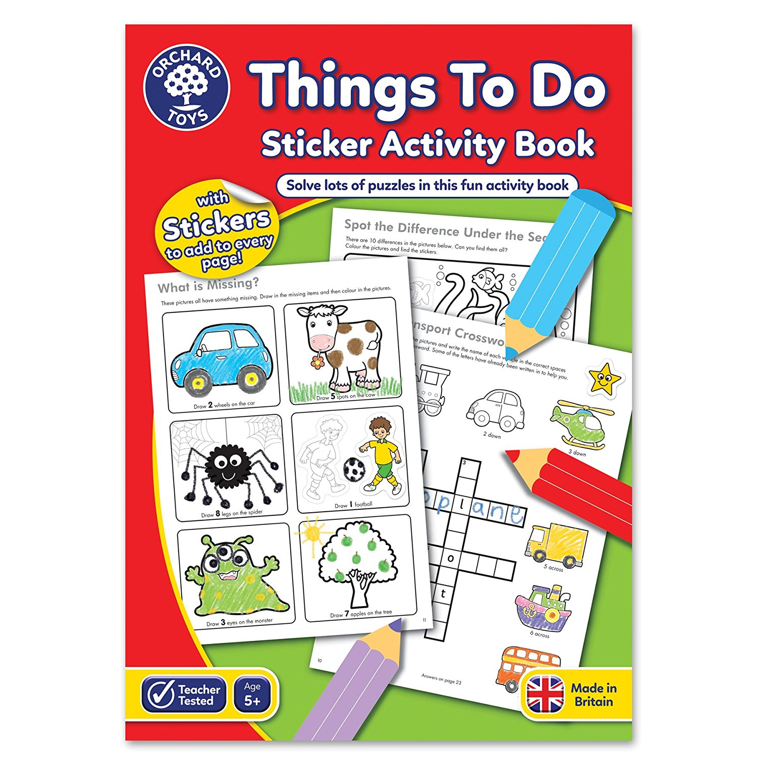 Things To Do Sticker Activity Book for children in S A