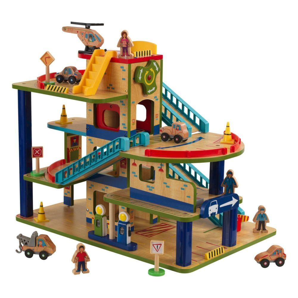 wash 39 n go wooden car garage for children in s a. Black Bedroom Furniture Sets. Home Design Ideas