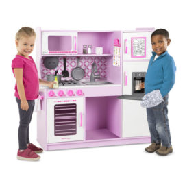 Chefs Kitchen Pink Play Kitchen Kids Children Pretend Play Melissa & Doug Wooden with Ice Dispenser
