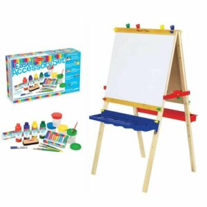 BUNDLE DEAL: Deluxe Wooden Art Easel + Accessory Set (SAVE R300.00)