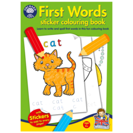 First Words Sticker Activity Book for Kids Children Games Toys Orchard Fun Learning On the Go British