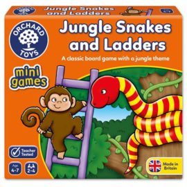 Jungle Snakes and Ladders for Kids Children Games Orchard Toys