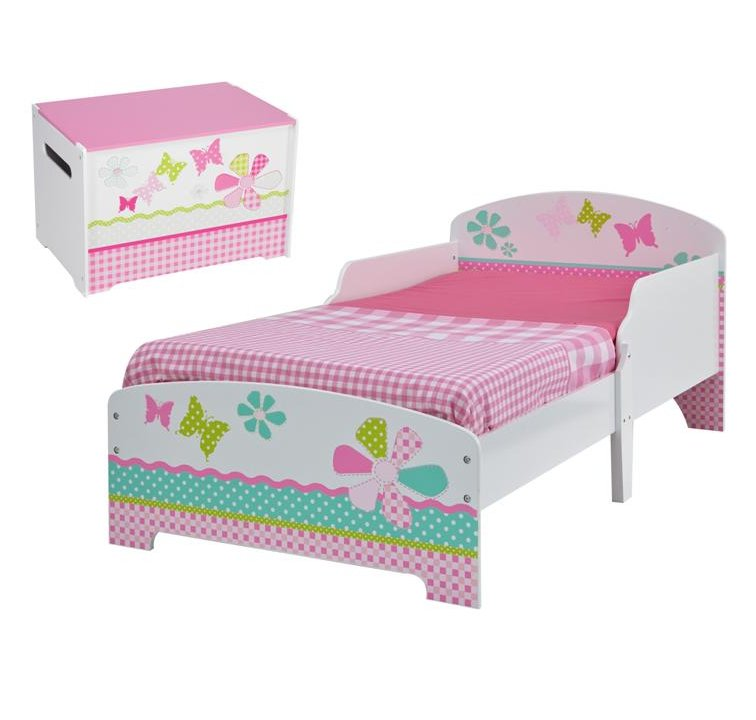 BUNDLE DEAL Patchwork Toddler Bed Toy Chest Save R45000
