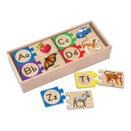 Self Correcting Letter Puzzle for Kids Early Learning Education Wooden Children