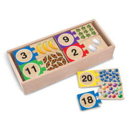Self Correcting Number Puzzle for Kids Early Learning Education Wooden Children