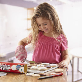 Slice and bake Wooden Cookie Set for Kids and Children Pretend Play Food Baking