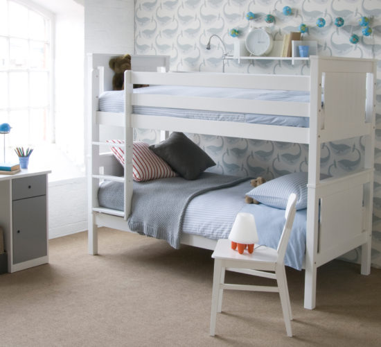 Superior Classic Bunk Bed, Solid Beech - Pure White by Little Folks