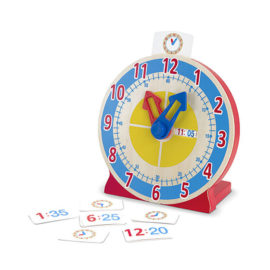 Turn and Tell Wooden Clock for Kids Children Time Teacher Fun Learning