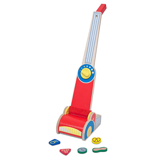 Vacuum Cleaner Lets Play House Pretend Kids Children Wooden Toys