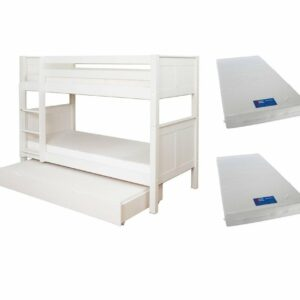 BUNDLE DEAL: Classic Bunk Bed with Trundle + 2 Mattresses (SAVE R500.00)