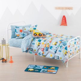 City Travel Duvet Set for Boys Kids Children Bedding includes Pillowcase Pure Cotton