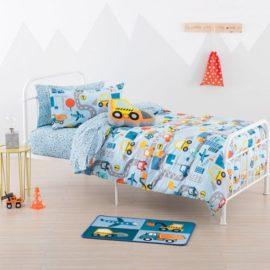 City Travel Duvet Set for Boys Kids Children Bedding includes Pillowcase Pure Cotton