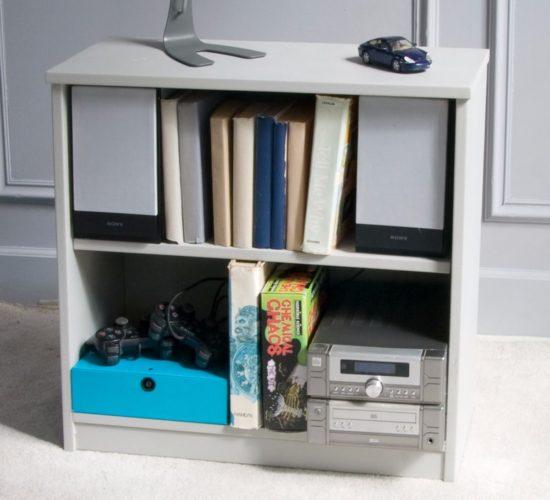 Fargo Storage Bookcase, Solid Wood - Farleigh Grey  by Little Folks