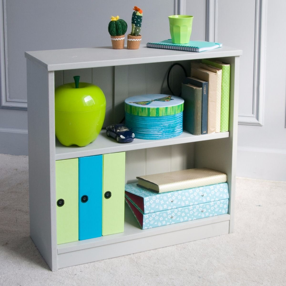 Fargo Storage Bookcase Farleigh Grey By Little Folks For Kids