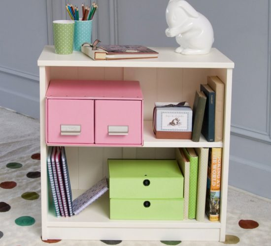 Fargo Storage Bookcase, Solid Wood - Ivory White by Little Folks