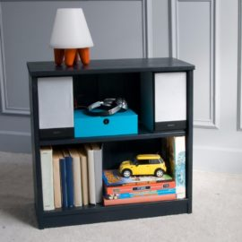 Fargo Storage Bookcase Small for Kids Children Bookshelf Painswick Blue Kidsroom