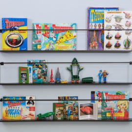 Metal Wall Shelf for Kids Children Bedrooms Storage Black