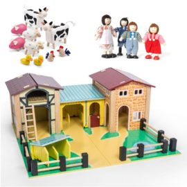 The Farmyard Bundle with Family and Animals Pretend Play for Kids Children Wooden Toys Le Toy Van