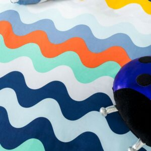 Waves Duvet Set - Blue (Double)
