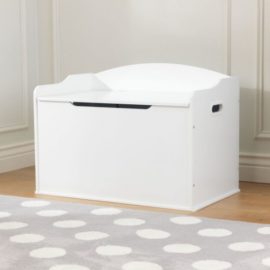 Classic Toy Box for Kids Children Storage Saftey Hinge Playroom Bedroom Furniture White