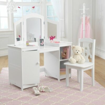 Deluxe Vanity & Chair Set - White