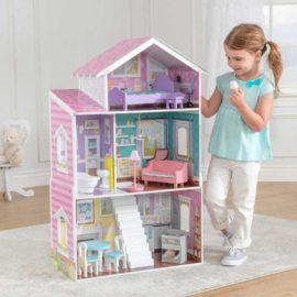Glendale Manor Dollshouse for Kids Children Girls Wooden Toy Play Barbie House Pastel