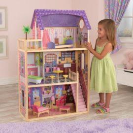Kayla Dollshouse for Kids Barbie Dolls 30cm Tall Wooden Children Girls Play Toys Pretend