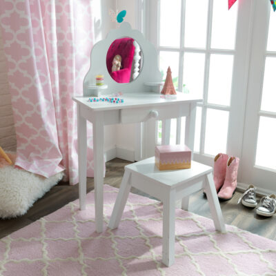 Medium Vanity & Stool Set - White by Kidkraft