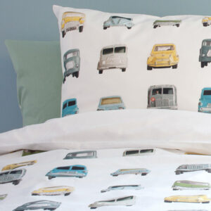 Cars Duvet Set - White (Single)