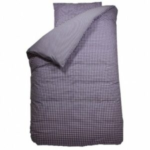 Gingham Duvet Set - Lilac (Single)