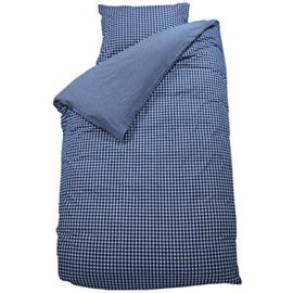 Gingham Navy Duvet Set for Kids Children Pure Cotton Boys Bedding Bedroom plus Pillowcase