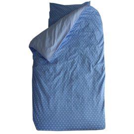 Little Stars Reversible Duvet Set for Kids Children Pure Cotton Blue and White Bedding Stripes Boys Bedroom plus Pillowcase