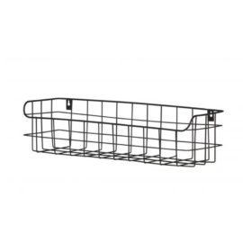 Lucien Metal Wall Shelf Black for Kids Children Storage Teens Kidsroom 50cm