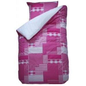 Patchwork Duvet Set - Fuchsia (Single)