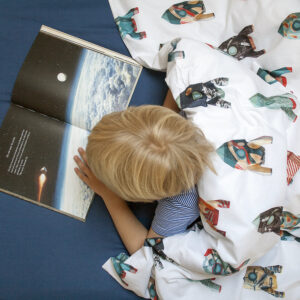 Rockets Duvet Set - White (Single)