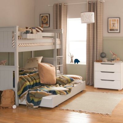 Superior Classic Bunk Bed, Solid Beech - Dove Grey by Little Folks