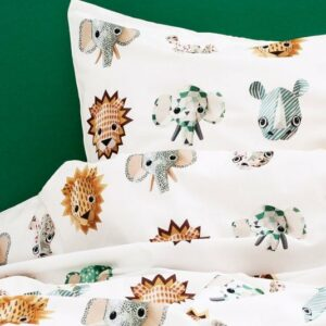 Safari Duvet Set - White (Single)