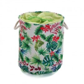 Fabric Storage Tote Floral Girls Kids Children Toys Playrooms Kidsroom Tidy up Organised Drawstring